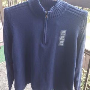 St John's Bay Mens Quarter Zipped Sweater XXL